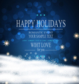 festive background for Christmas and New Year vector image vector image