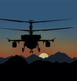 fighting helicopters in attack vector image vector image