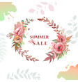 flower wreath sale vector image
