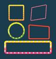 frame border glow light set vector image