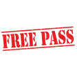 free pass sign or stamp vector image vector image