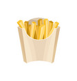 french fries in packaging box unhealthy nutrition vector image vector image