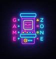 game zone logo neon room neon sign