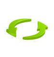 green circular arrows icon symbol eps10 vector image