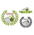 Green tennis sports game icon or symbol vector image vector image