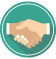 handshake icon sign and symbol vector image vector image