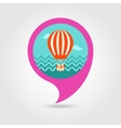 Hot Air Balloon pin map icon Summer Vacation vector image vector image