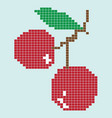 image of a cherry from geometric shapes vector image