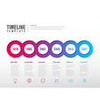infographic milestones timeline template vector image vector image
