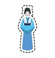 Isolated woman of china design vector image vector image