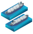 isometric gas tanker flat vector image vector image