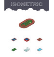 isometric sport set of fighting run stadium vector image vector image