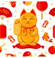 japanese maneki neko banner good luck japan vector image vector image