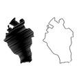 kabaena island map vector image vector image