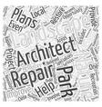 Landcsape architect repair Word Cloud Concept vector image vector image
