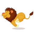 Lion cartoon running vector image vector image