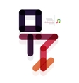 man person abstract geometric shape concept vector image vector image