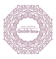 mandala with floral decorative element vector image
