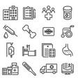 medicine and health symbols vector image vector image