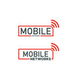 mobile-networks-logo vector image vector image