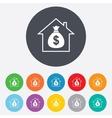 Mortgage sign icon Real estate symbol vector image