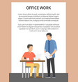 office work poster with text vector image