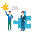 partnership and collaboration at work business vector image