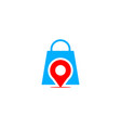 pin point shop and shopping logo design element vector image vector image