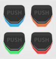 push buttons color vector image vector image