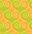 Retro 3D green and orange swirly hearts vector image vector image