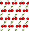 Seamless background with hand drawn cherries vector image vector image