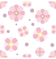Seamless pattern Pink flowers on a white backgroun vector image vector image