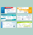 set airlines tickets and boarding passes