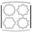 set frames hexagonal and rounded rope vector image vector image