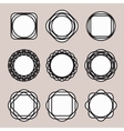 Set of Round Black Line Design Vintage Frames or vector image vector image