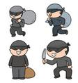 set of thief vector image