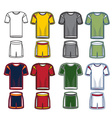 set soccer uniform vector image
