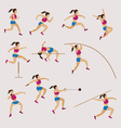 Sports Athletes Track and Field Women Set vector image vector image