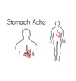 stomach ache linear icon young man vector image