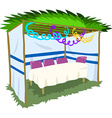 Sukkah For Sukkot With Table 2 vector image vector image