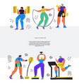 training workout hand drawn flat vector image vector image