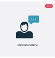 two color user data speech interface icon from vector image vector image