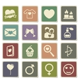 Valentines day simply icons vector image vector image