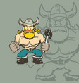 viking cartoon character vector image vector image