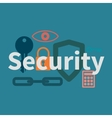 Web security concept vector image