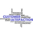 word cloud customer satisfaction vector image vector image