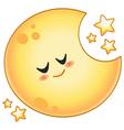 cartoon moon vector image