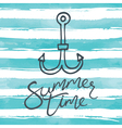 Summer background with anchor icon vector image