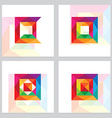3d low polygon square logos vector image vector image