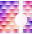 a pink background with squares stripe vector image